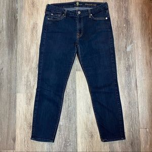 7 For All Man Kind The Kimmy Crop Jeans